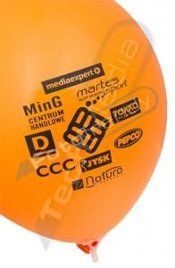 Balony reklamowe z helem - pompowanie
